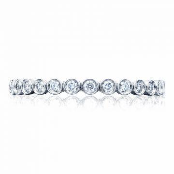 Tacori Platinum Sculpted Crescent Anniversary Wedding Band