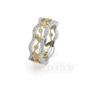 Parade Design 18k Two Tone Gold Diamond Ring