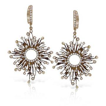Simon G. 18k Two Tone Gold Organic Allure Diamond Drop Earrings