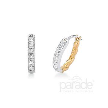 Parade Design 18k Two Tone Gold Diamond Earrings