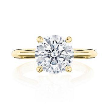 Tacori 18k Yellow Gold RoyalT Solitaire Ring