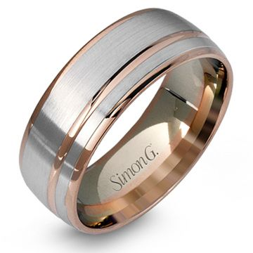 Simon G. 18k Two Tone Gold Men's Wedding Band