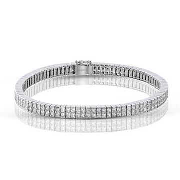 Simon G. 18k White Gold Nocturnal Sophistication Diamond Bracelet