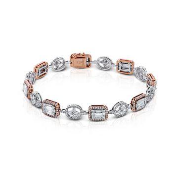 Simon G. 18k Two-Tone Gold Diamond Bracelet