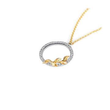 Parade Design 18k Two Tone Gold Diamond Necklace