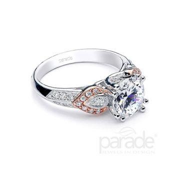 Parade Design 18k Two Tone Gold Diamond Engagement Ring