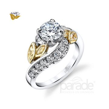 Parade Design 18k Two Tone Gold Diamond Engagement Ring