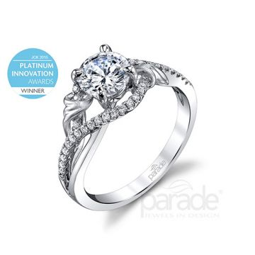 Parade Design Platinum Diamond Engagement Ring