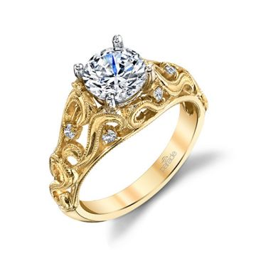 Parade Design 18k Yellow Gold Diamond Engagement Ring