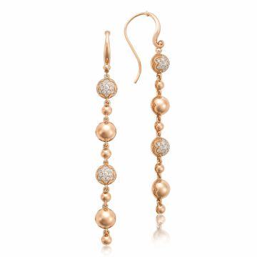 Tacori 18k Rose Gold Sonoma Mist Diamond Drop Earrings