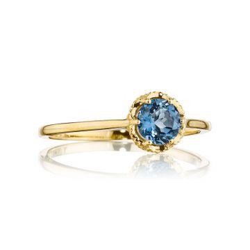 Tacori 14k Yellow Gold Crescent Crown Gemstone Ring