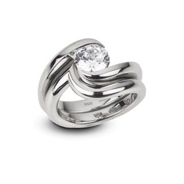 Steven Kretchmer Platinum Swirl Wedding Band