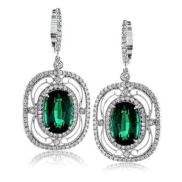 Simon G. 18k White Gold Diamond & Gemstone Earrings