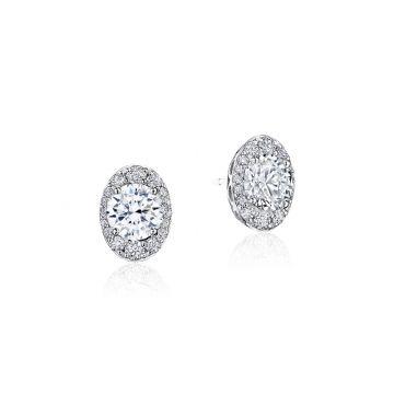 Tacori Oval Bloom Diamond Earring