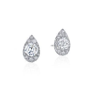 Tacori Pear Bloom Diamond Earring