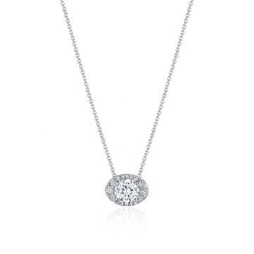 "Tacori 17"" Horizontal Oval Bloom Diamond Necklace"