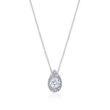 """Tacori 17"""" Pear Bloom Diamond Necklace"""