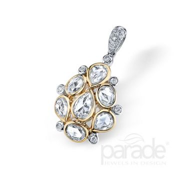 Parade Design 18k Two Tone Gold Diamond Pendant