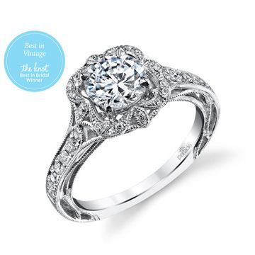 Parade Design Platinum Diamond Engagement Ring