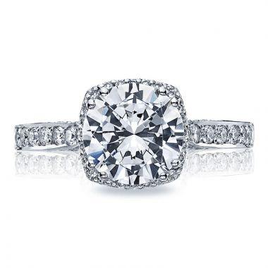 Tacori Platinum Dantela Diamond Halo Engagement Ring