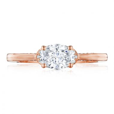 Tacori 18k Rose Gold Solitaire Diamond Engagement Ring