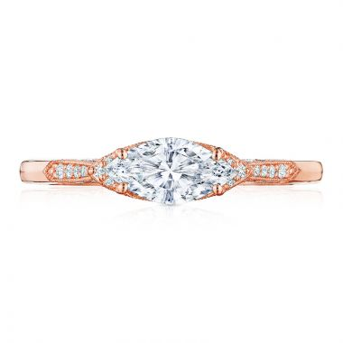 Tacori 18k Rose Gold Diamond Straight Engagement Ring