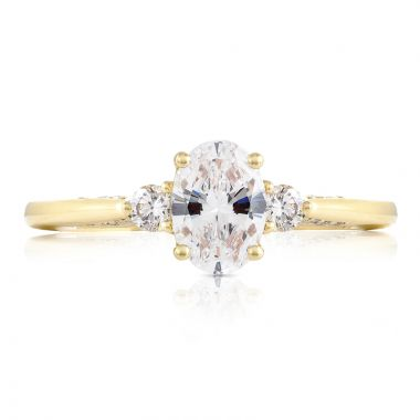 Tacori 18k Yellow Gold 3 Stone Diamond Engagement Ring