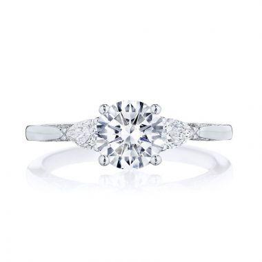 Tacori Platinum 3 Stone Diamond Engagement Ring