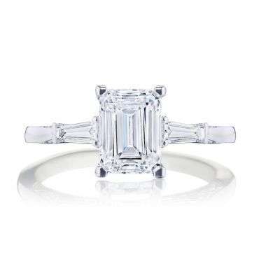 Tacori Platinum 3 Stone Diamond Engagement Ring