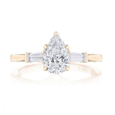 Tacori 18k Rose Gold 3 Stone Diamond Engagement Ring