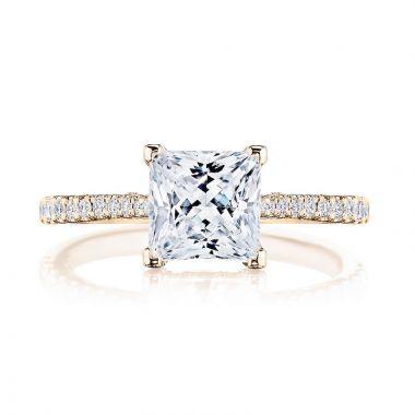 Tacori 18k Rose Gold Diamond Straight Engagement Ring