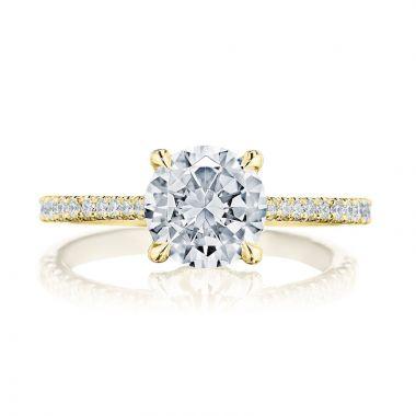 Tacori 18k Yellow Gold Diamond Straight Engagement Ring