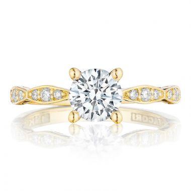 Tacori 18k Yellow Gold Sculpted Crescent Diamond Straight Ring