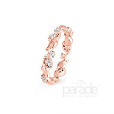 Parade Design 18k Rose Gold Diamond Ring