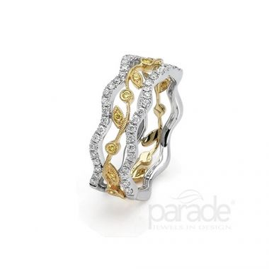 Parade Design 18k Two Tone Gold Diamond Ring