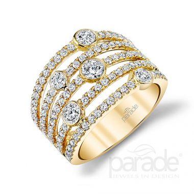 Parade Design 18k Yellow Gold Diamond Ring