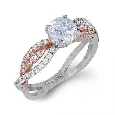 Simon G. 18k Two-Tone Gold Diamond Engagement Ring