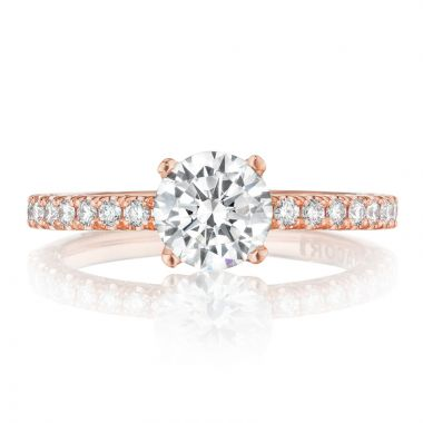 Tacori 18k Rose Gold Petite Crescent Diamond Straight Ring