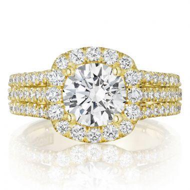 Tacori 18k Yellow Gold Petite Crescent Halo Ring