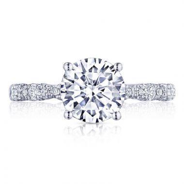 Tacori Platinum Petite Crescent Diamond Straight Ring