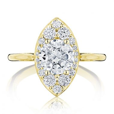 Tacori 18k Yellow Gold INFLORI Halo Ring