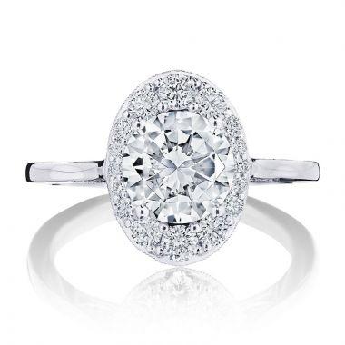 Tacori Platinum INFLORI Diamond Halo Engagement Ring