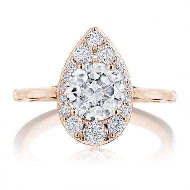 Tacori 18k Rose Gold INFLORI Halo Ring