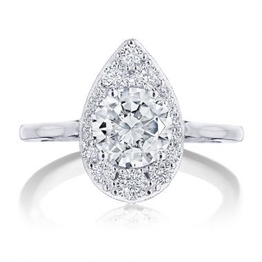 Tacori Platinum INFLORI Diamond Halo Engagement Ring