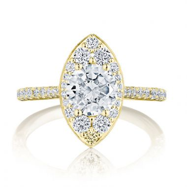 Tacori 18k Yellow Gold INFLORI Halo Ring