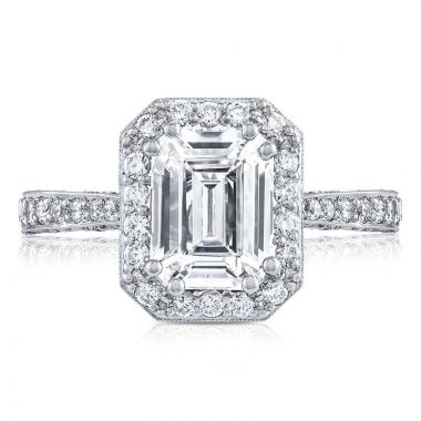Tacori Platinum RoyalT Diamond Halo Engagement Ring