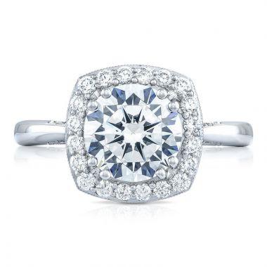 Tacori Platinum RoyalT Diamond Halo Engagement Ring