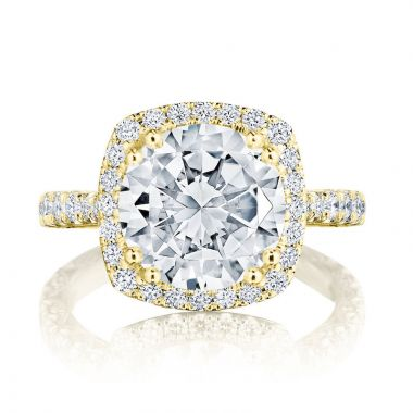 Tacori 18k Yellow Gold RoyalT Diamond Straight Ring