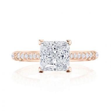 Tacori 18k Rose Gold RoyalT Diamond Straight Ring