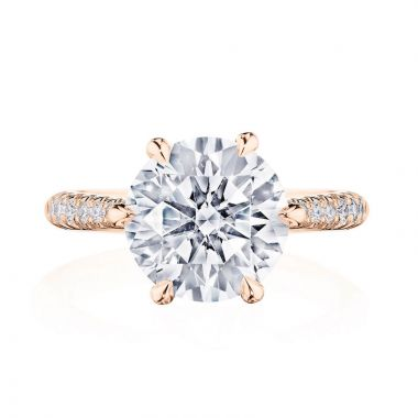 Tacori 18k Rose Gold RoyalT Diamond Straight Ring